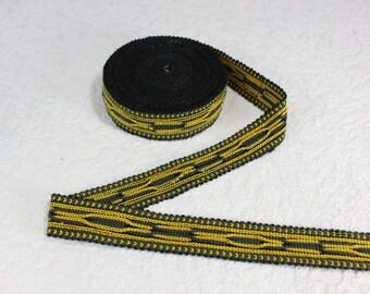 Woven Trim (6 yards), Woven Border, Cotton Ribbon, Grosgrain Ribbon, Dress Border, Border Trim, Ikat Fabric, T103 (R418)