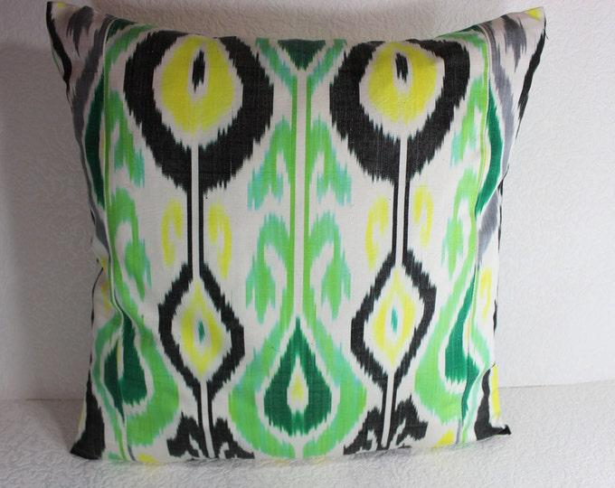 Ikat Pillow, Handmade Ikat Pillow Cover  IP122 (S111), Ikat throw pillows, Designer pillows, Decorative pillows, Accent pillows
