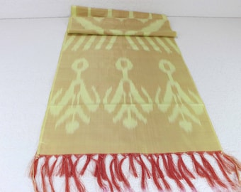 Hand Dyed Scarf, Ikat Scarf, Scarf, Silk Scarf, Sc80