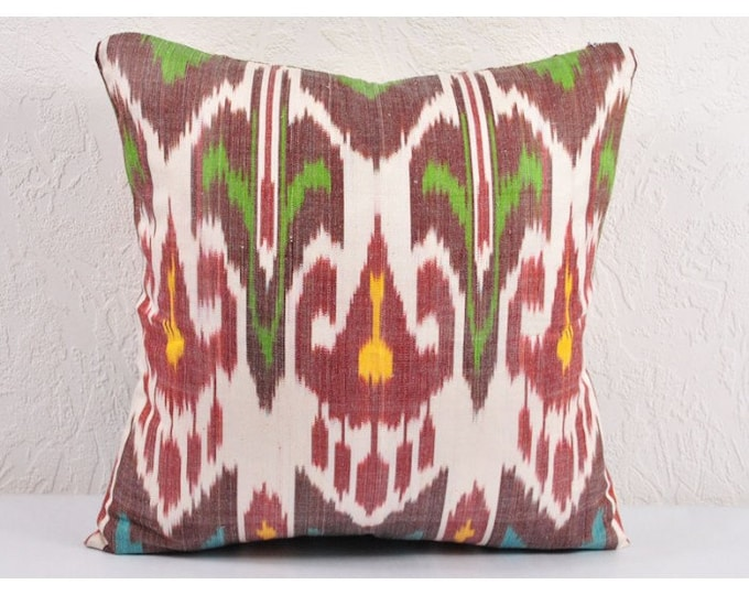 Ikat Pillow, Hand Woven Ikat Pillow Cover IP31 (A532-1AA1, Ikat throw pillows, Designer pillows, Ikat Pillows, Decorative pillows