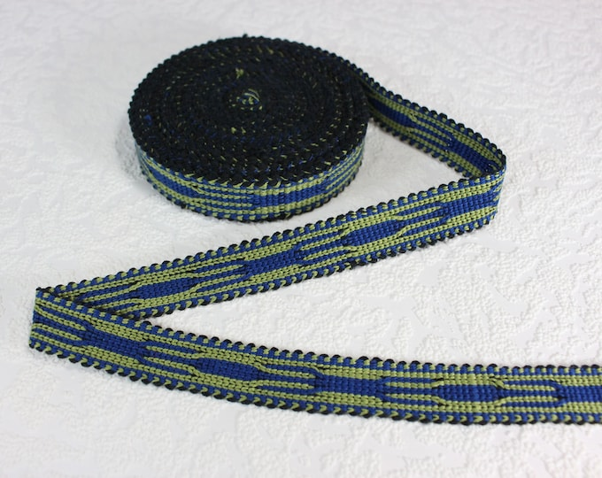 Woven Trim (6 yards), Woven Border, Cotton Ribbon, Grosgrain Ribbon, Dress Border, Border Trim, T120 (R244)
