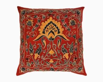 Handmade Suzani Pillow Cover SP25 (msp788), Suzani Pillow, Uzbek Suzani, Suzani Throw, Boho Pillow, Suzani, Decorative pillows