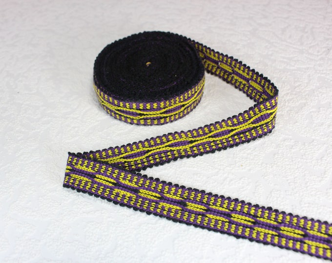 Woven Trim (6 yards), Woven Border, Cotton Ribbon, Grosgrain Ribbon, Dress Border, Border Trim, T123 (R282)