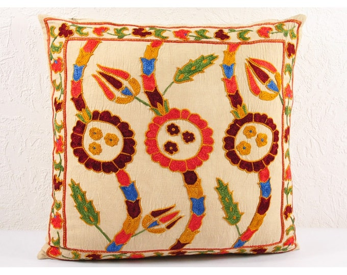 Handmade Suzani Pillow Cover SP19 (USP102), Suzani Pillow, Suzani Throw, Suzani, Decorative pillows, Accent pillows