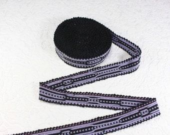 Woven Trim (6 yards), Woven Border, Cotton Ribbon, Grosgrain Ribbon, Dress Border, Ikat Fabric, T496