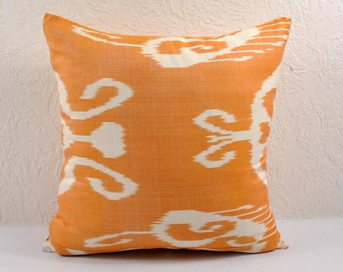 Ikat Pillow, Hand Woven Ikat Pillow Cover IP34 (npi215-10), Ikat throw pillows, Designer pillows, Decorative pillows, Accent pillows