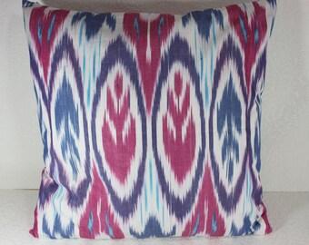 Cotton Ikat Pillow, Ikat Pillow Cover,  CP17 (C150), Ikat throw pillows, Designer pillows, Decorative pillows, Accent pillows