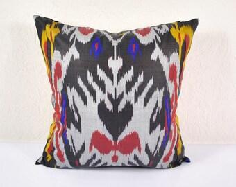 Ikat Pillow, Hand Woven Ikat Pillow Cover  IP79 (A520-1ba3), Ikat throw pillows, Designer pillows, Ikat Pillow, Decorative pillows
