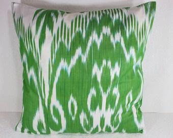 Cotton Ikat Pillow, Ikat Pillow Cover,  CP14 (C137), Ikat throw pillows, Designer pillows, Decorative pillows, Accent pillows