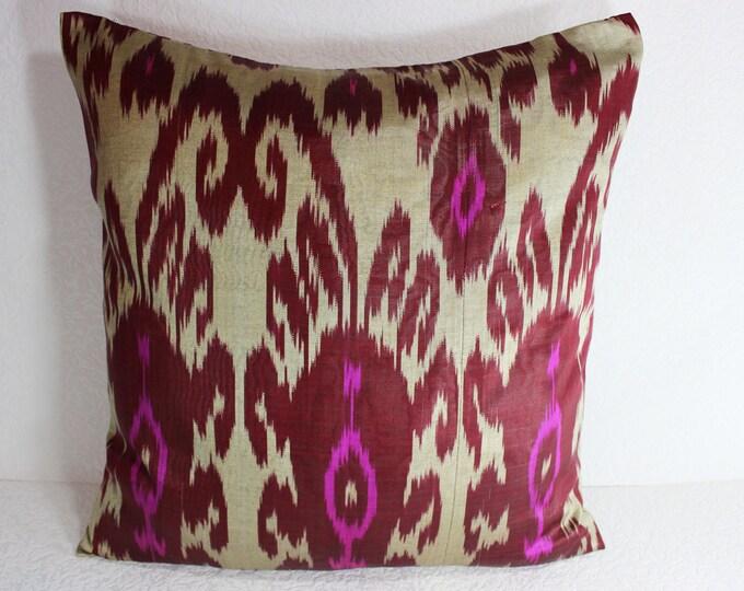 Ikat Pillow, Handmade Ikat Pillow Cover  IP121 (S105), Ikat throw pillows, Designer pillows, Decorative pillows, Accent pillows