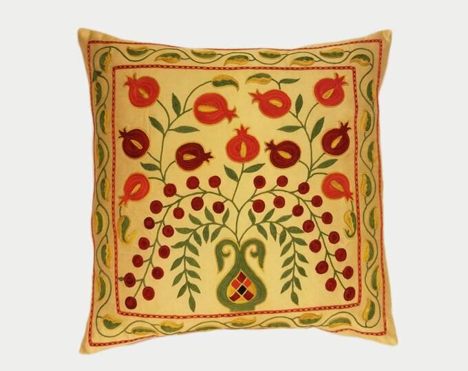 Handmade Suzani Pillow Cover SP26 (msp786), Suzani Pillow, Uzbek Suzani, Suzani Throw, Boho Pillow, Suzani, Decorative pillows