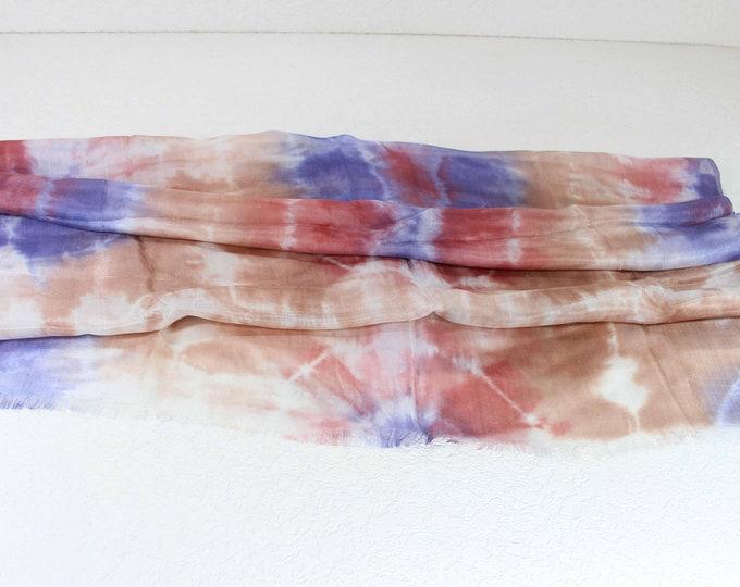 Hand Dyed Scarf, Ikat Scarf, Scarf, Silk Scarf, Sc67