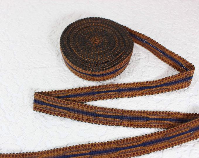 Woven Trim (6 yards), Woven Border, Cotton Ribbon, Grosgrain Ribbon, Dress Border, Border Trim, T433