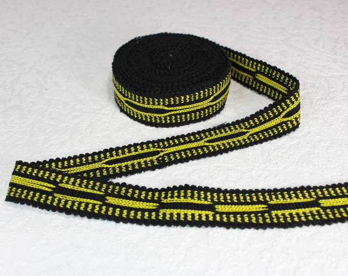 Woven Trim (6 yards), Woven Border, Cotton Ribbon, Grosgrain Ribbon, Dress Border, Border Trim, T121 (R284)