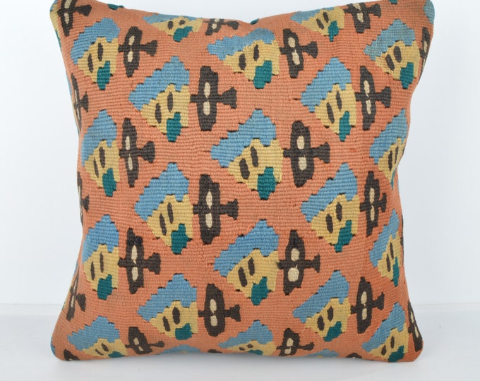Wool Pillow, Kilim Pillow, Decorative Pillows, Designer Pillows,  Bohemian Pillow, Accent Pillows, Throw Pillows, KP5 (tp1129)