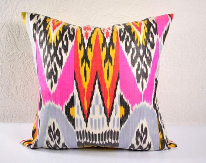 Ikat Pillow, Hand Woven Ikat Pillow Cover IP22 (mpi101-20), Ikat throw pillows, Designer pillows, Decorative pillows, Accent pillows