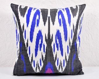 Ikat Pillow, Ikat Pillow Cover,  IP9 (spi515), Ikat throw pillows, Designer pillows, Decorative pillows, Accent pillows
