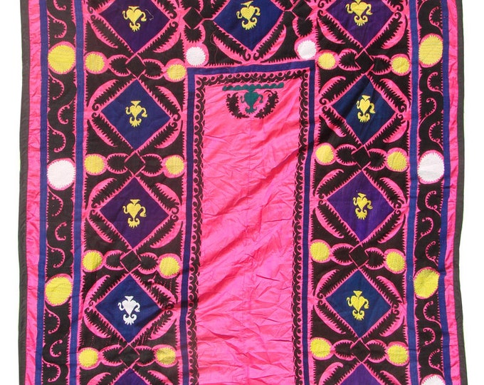 Suzani Wall Hanging, Handmade Vintage Suzani  VS40 (NL2140), Uzbek Suzani, Suzani Blanket, Suzani Tapestry, Suzani Bedding, Wall Art
