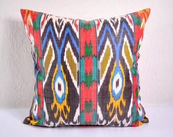 Ikat Pillow, Ikat Pillow Cover,  IP11 (spi494), Ikat throw pillows, Designer pillows, Decorative pillows, Accent pillows