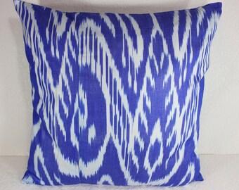 Cotton Ikat Pillow, Ikat Pillow Cover,  CP23 (C136), Ikat throw pillows, Designer pillows, Decorative pillows, Accent pillows