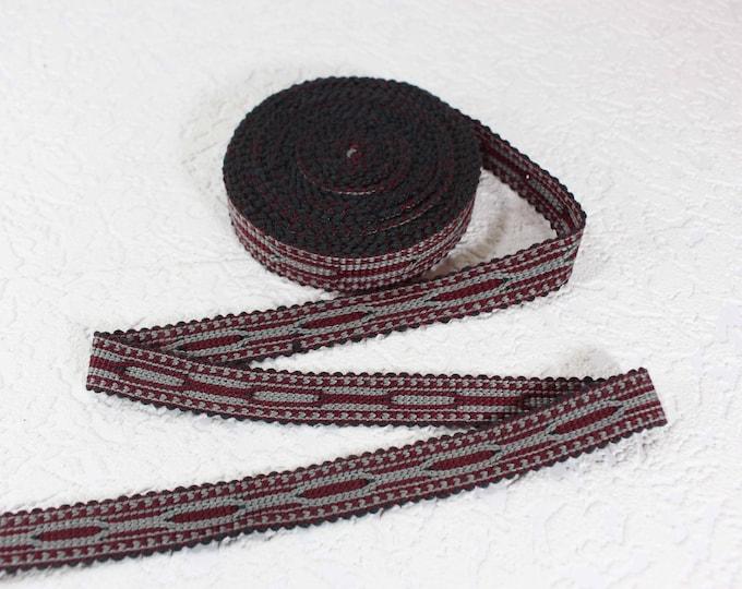 Woven Trim (6 yards), Woven Border, Cotton Ribbon, Grosgrain Ribbon, Dress Border, Border Trim, T444