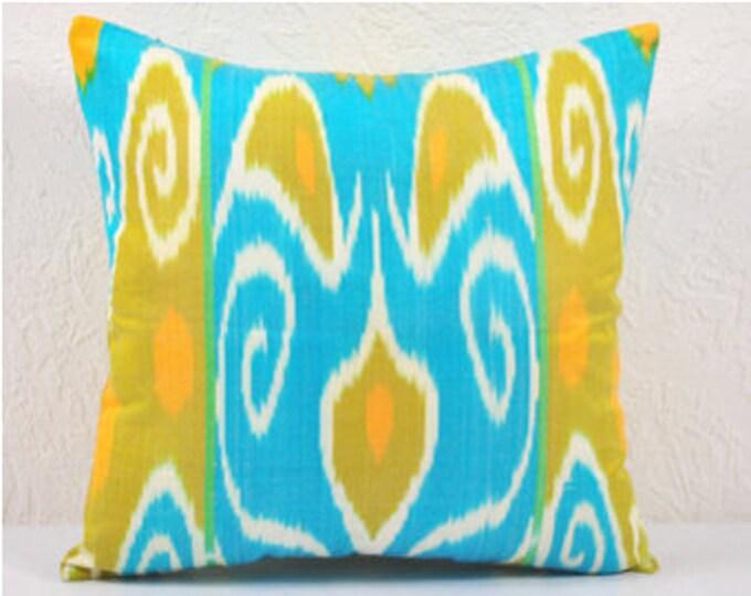 Ikat Pillow, Hand Woven Ikat Pillow Cover IP20 (spi401), Ikat throw pillows, Designer pillows, Decorative pillows, Accent pillows