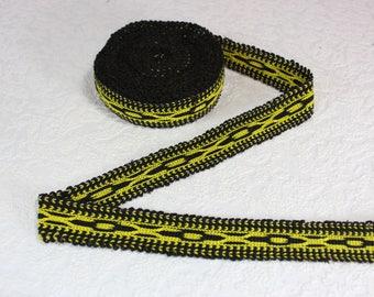 Woven Trim (6 yards), Woven Border, Cotton Ribbon, Grosgrain Ribbon, Dress Border, Border Trim, Ikat Fabric, T53 (R415)