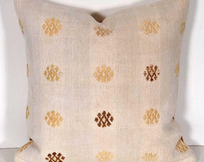 Kilim Pillow Cover, Kilim Pillow, Bohemian Pillow, Kilim Cushions, Turkish Kilim, Decorative Pillows, Wool Pillow, KP35 (tp465)
