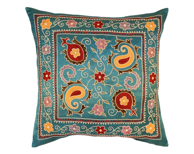 Silk Handmade Suzani Pillow Cover, SP1 (msp782), Suzani pillows