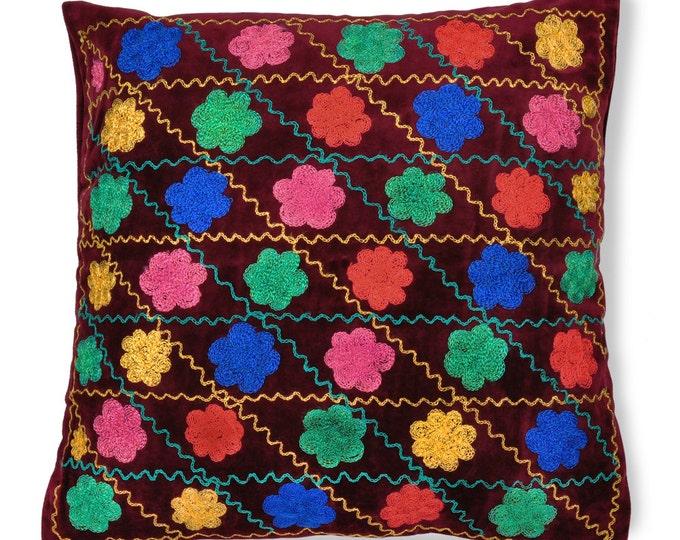 """Bukhara Bouquet, 19"""" Patduzi Pillow Cover- PP2 (4067)"""