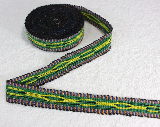 Woven Trim (6 yards), Woven Border, Cotton Ribbon, Grosgrain Ribbon, Dress Border, Border Trim, T141 (R243)
