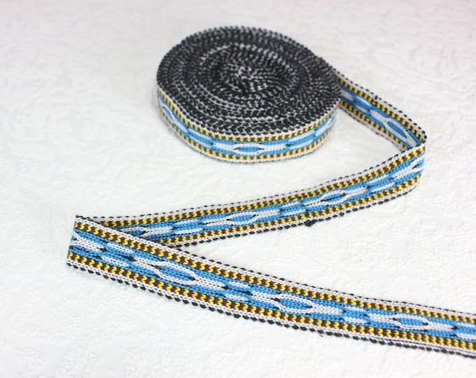 Woven Trim (6 yards), Woven Border, Cotton Ribbon, Grosgrain Ribbon, Dress Border, Border Trim, T118 (R291)