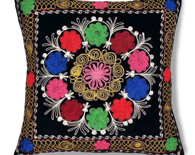 """Morning Glory, 19"""" Patduzi Velvet Pillow Cover - PP3 (4075)"""
