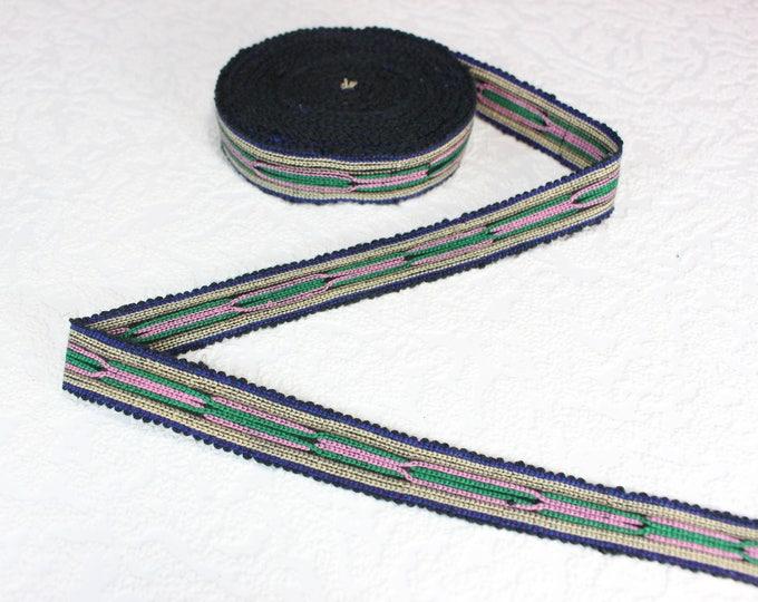 Woven Trim (4 yards), Woven Border, Cotton Ribbon, Grosgrain Ribbon, Dress Border, Border Trim, T132 (R305)