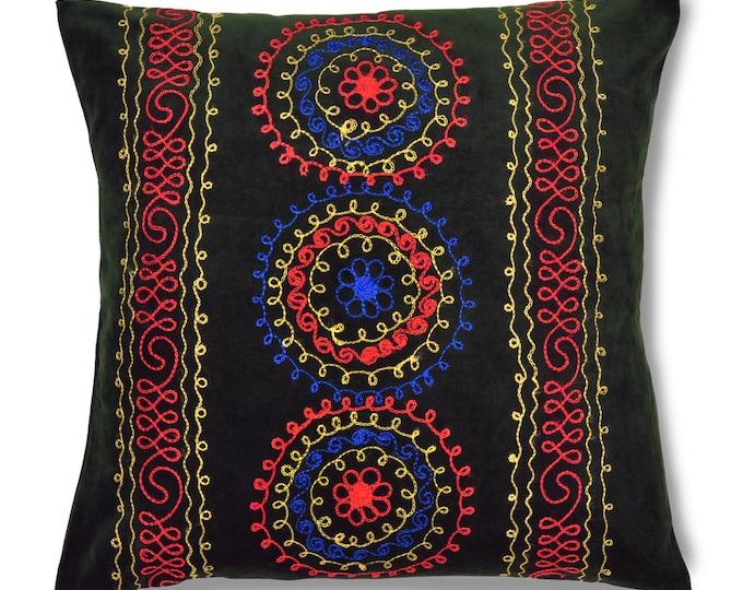 """Dew of Denau, 19"""" Patduzi Velvet Pillow Cover - PP5 (4066)"""