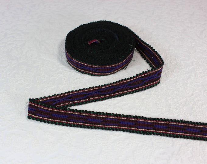 Woven Trim (6 yards), Woven Border, Cotton Ribbon, Grosgrain Ribbon, Dress Border, Border Trim, T112 (R434)