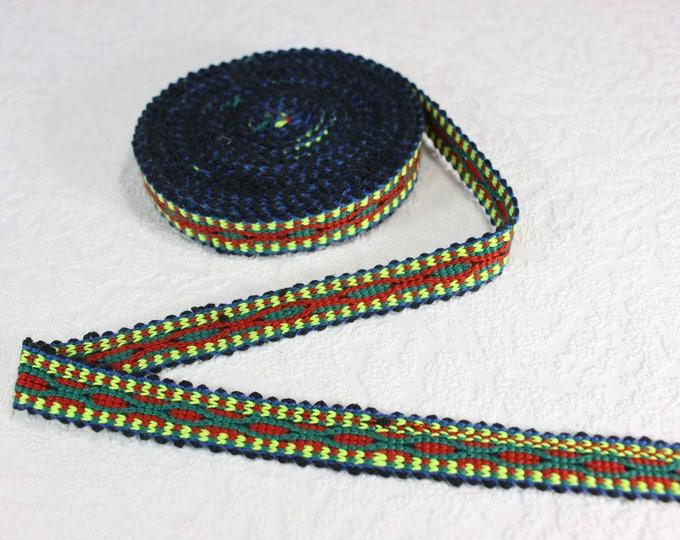 Woven Trim (6 yards), Woven Border, Cotton Ribbon, Grosgrain Ribbon, Dress Border, Border Trim, T110 (R235)