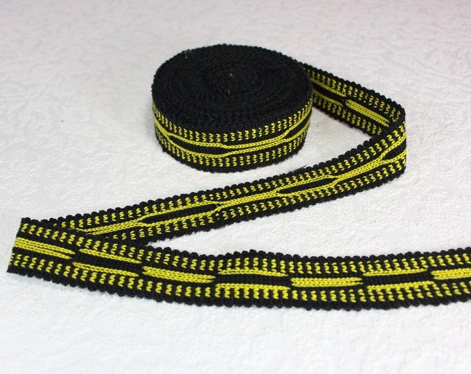 Woven Trim (6 yards), Woven Border, Cotton Ribbon, Grosgrain Ribbon, Dress Border, Border Trim, T121 (R284)