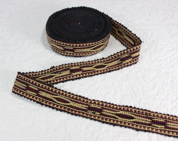 Woven Trim (6 yards), Woven Border, Cotton Ribbon, Grosgrain Ribbon, Dress Border, Border Trim, T136 (R246)