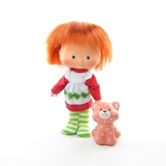 Strawberry Shortcake Doll With Custard Cat Pet Vintage Etsy