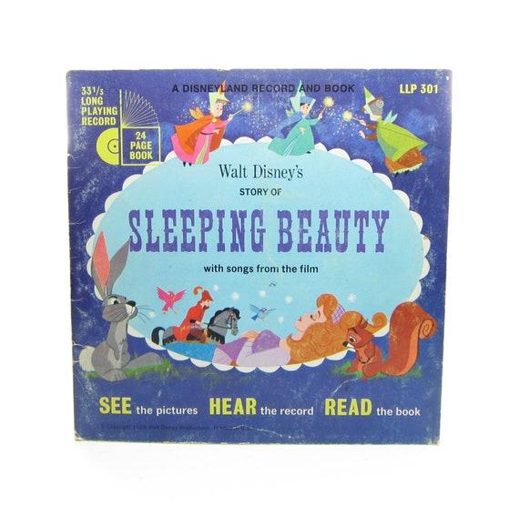 Sleeping Beauty Record & Book Set Vintage 1965 Walt Disney Read Along  Children's Story