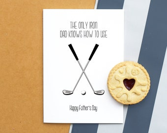 Funny Father's Day Card, Golf Card, Father's Day Card, Golf Gift, Golf, Funny Card, Golf Gifts for Men, Dad Gift, Card for Dad, Golf Humor