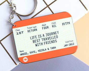 Personalised Keyring, Personalised Friend Gift, Friendship Quote, Gift for Friend, Friend Keyring, Friend Quote, Keychain, Personalised Gift