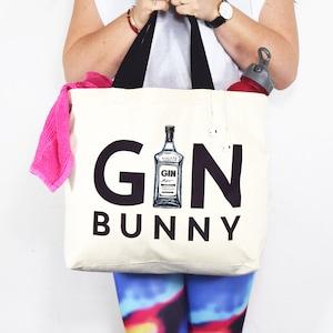 Gym Bag, Gym and Tonic, Gym Bunny, Womens Gym Bag, Gift for Her, Gym Gift,  Womens Bag, Gin   Tonic, Shopping Bag, Tote Bag, Gin Bag, Funny 629ae3764e