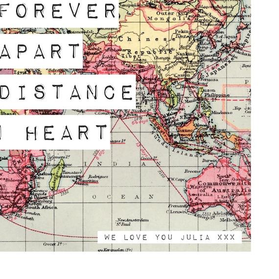 Sri Lanka Karte Zum Drucken.Welt Karte Drucken Spruch Karte 8 X 10 Freundgeschenk Langstrecken Freund Druck Verlassen Geschenk Reise Weltkarte Poster Karte Kunstdruck