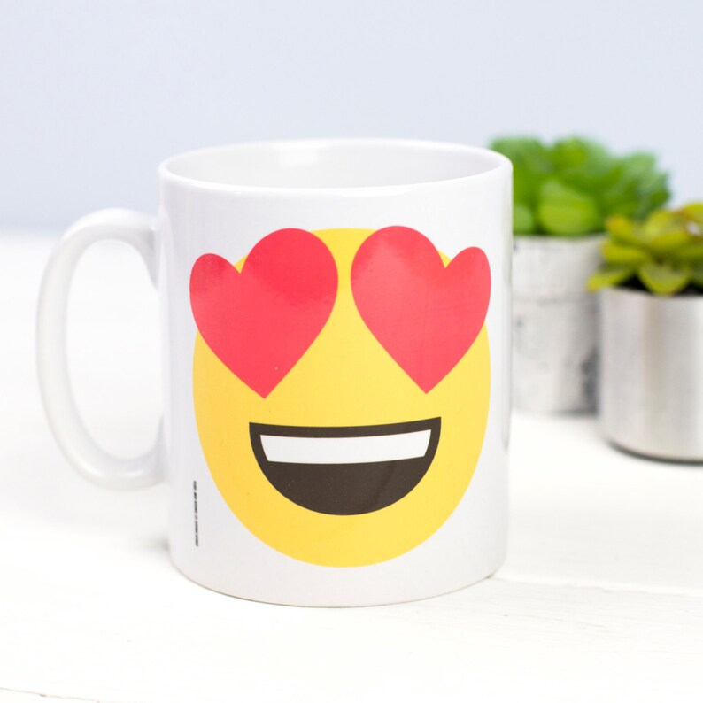 Sale Emoji Mug Emoji Boyfriend Gift Girlfriend Gift Love Etsy