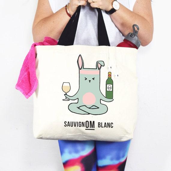Yoga Bag Funny Wine Quote Funny Yoga Womens Bag Yoga Gift  c2de5605d7