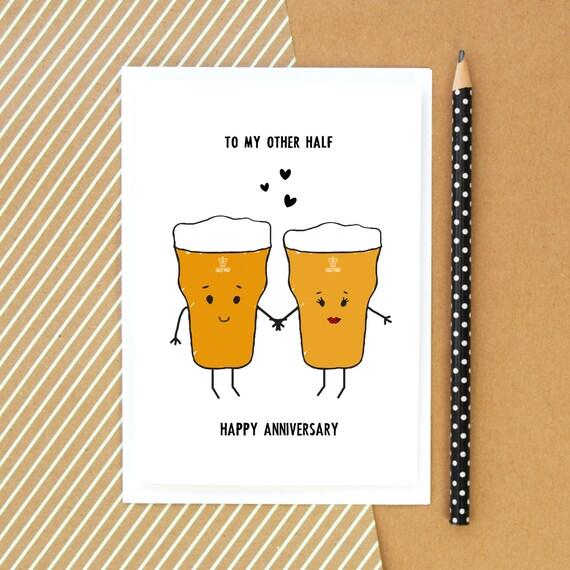 Geburtstag Karte Fur Ihn Bierkarte Lustige Karte Bier Etsy