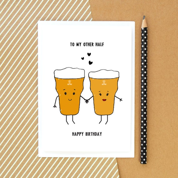 Beer Card Birthday Card Funny Card Beer Card For Him Etsy