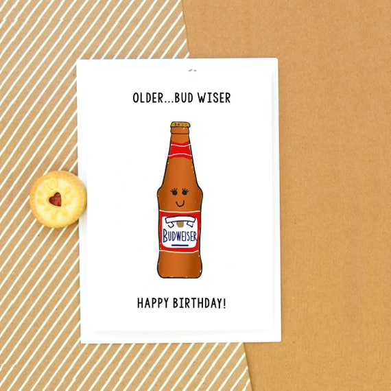 Funny Beer Birthday Card For Him